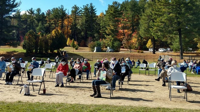 Voters gather for last Saturday's special town meeting in West Boylston.
