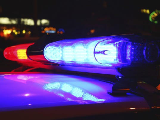Police lights siren
