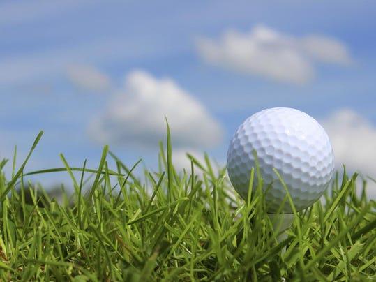 golf ball grass