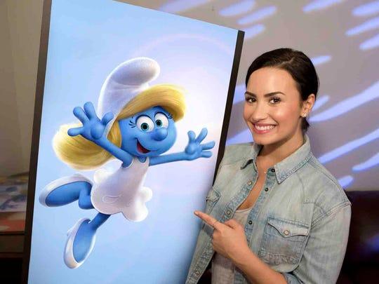 """Demi Lovato voices Smurfette in """"Get Smurfy."""""""