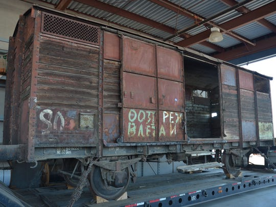 This Macedonian World War II-era rail car belongs to