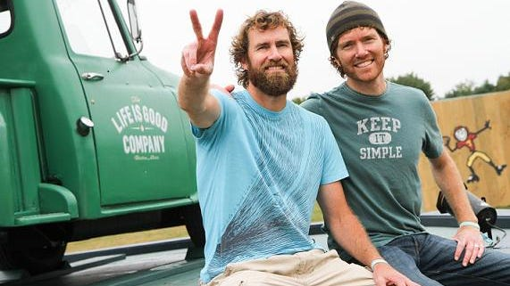 The Life Is Good origin story tells of how Bert and John Jacobs had $78 between them when they dreamed up the shirt designs that made the company. They sold out 48 shirts in 45 minutes in their first outing.