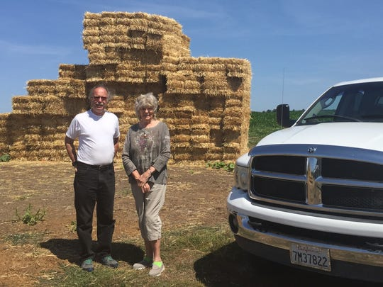 Harold and Peg Allen of Fawnskin visit Fordyce Farm east of Salem on Saturday, August 19, 2017.