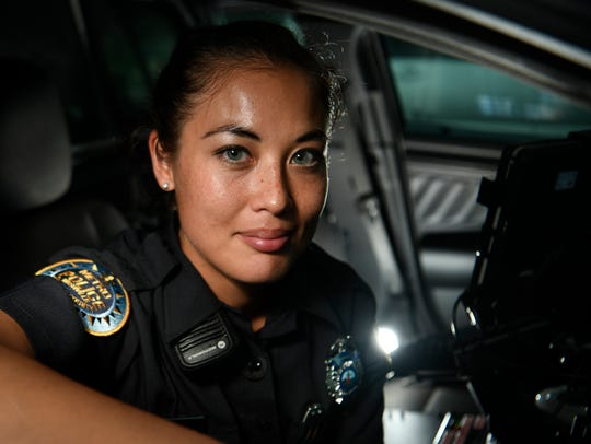 Metro police officer Teresah Pinho recently graduated