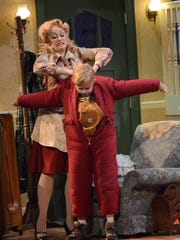 """Carolyn McPhee and Cyrus Hilding in Arizona Broadway Theatre's """"A Christmas Story: The Musical."""""""