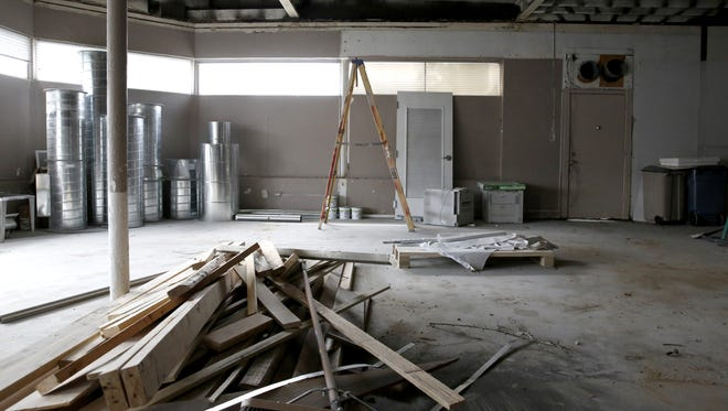 Renovations are underway as of Thursday, March 29, 2018 on Catalina Cafe's new space, the former Graphateria building at FAMU Way and South Adams Street.