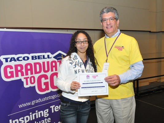 Hilvania Peralta won a $1,000 scholarship. She plans to study nursing at Temple.