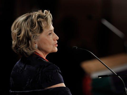 AP APTOPIX Hillary Clinton Lincoln Award