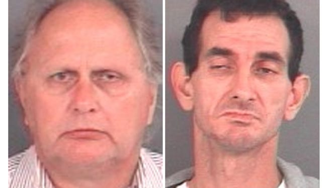 Batesville Mayor Richard Fledderman and suspected prostitute Randy Wigle-Stevens.