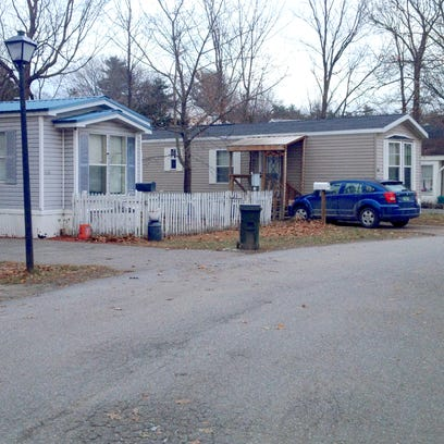 Farrington's Mobile Home Park, photographed in December 2014, is for sale, and residents are interested in purchasing the property as a cooperative.