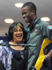 Former Jackson State track star Anaso Jobodwana (pictured