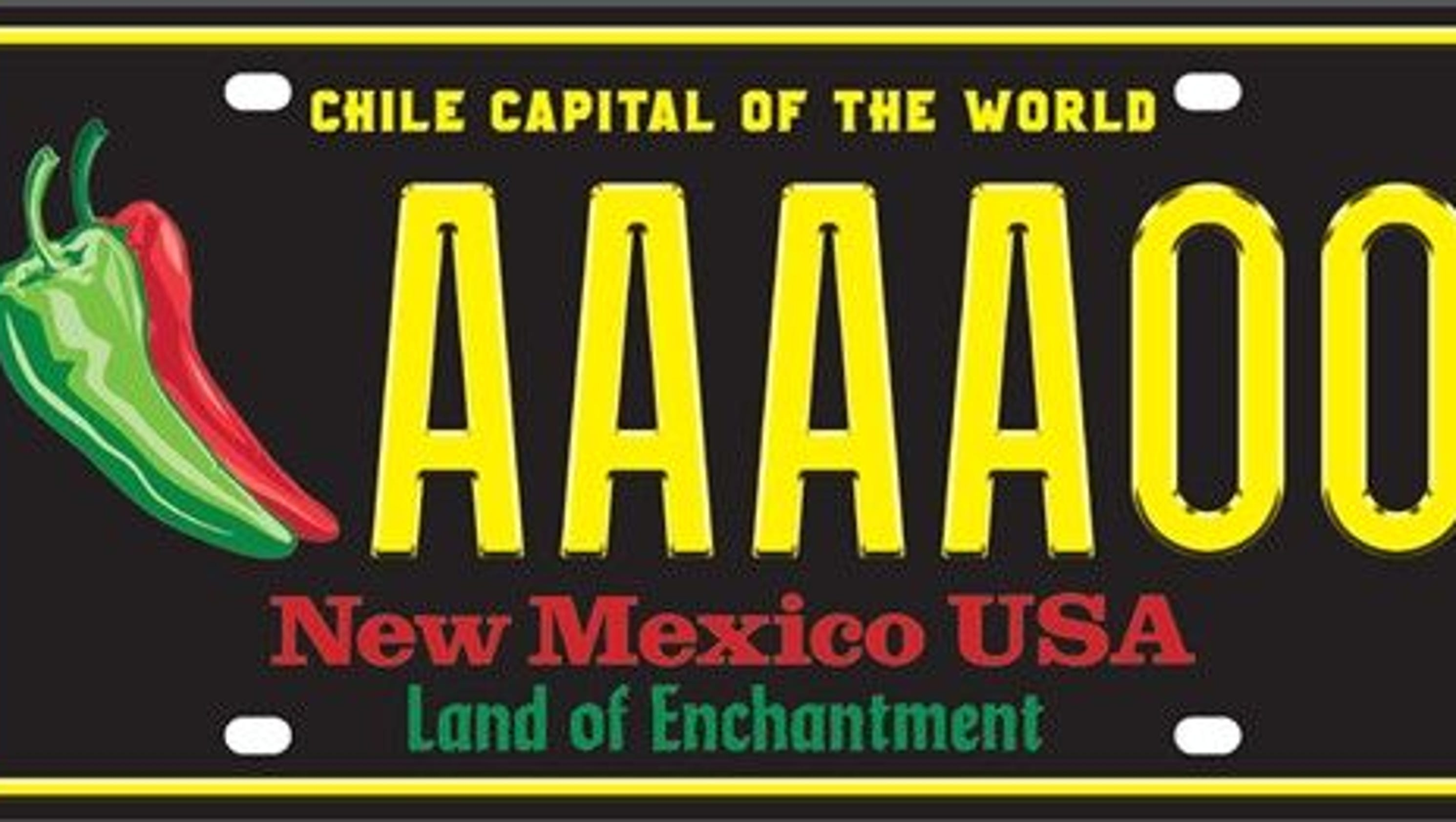 New Mexico Chile Capital license plate named the USA\'s best