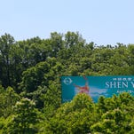 Trees partially cover a billboard along I-64 in Louisville. The Kentucky Transportation Cabinet plans to hold a public hearing on new proposed sign regulations. Some environmental groups are opposing the new proposed regulations, saying it would mean more trees being cut down. By Matt Stone, The C-J May 22, 2015