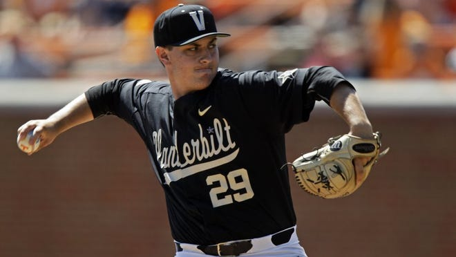 Vanderbilt pitcher Patrick Raby is a Knoxville native.