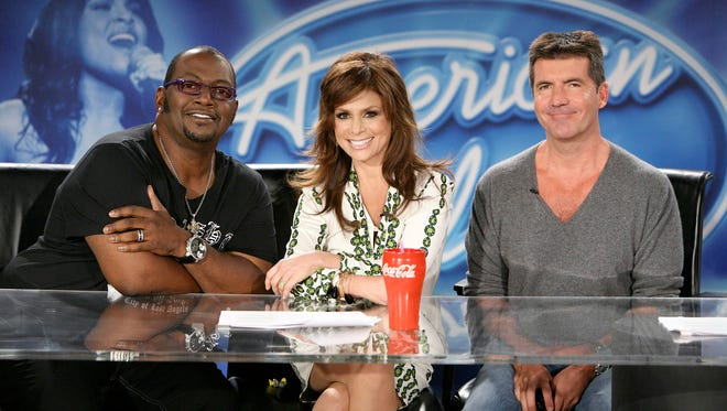 Randy Jackson, left, Paula Abdul and Simon Cowell formed 'American Idol's' first judging panel.