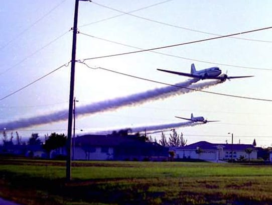Lee County Mosquito Control would sending roaring planes