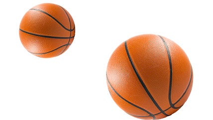 Three Basketball ball