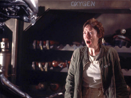 Veronica Cartwright says it wasn't hard to show fear