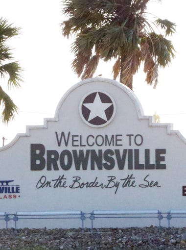 The entrance to Brownsville from the highway leading to and from South Padre Island.