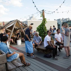 See inside mega Urban Outfitters with a restaurant and two bars