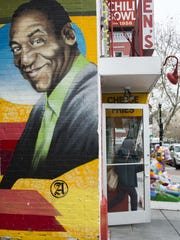 Mural featuring Bill Cosby at Ben's Chili Bowl in Washington,