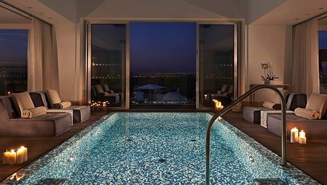 An Instagram photo of the Conrad Algarve hotel in Portugal.