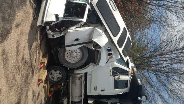 Memorial Boulevard was closed Monday afternoon after a serious wreck.