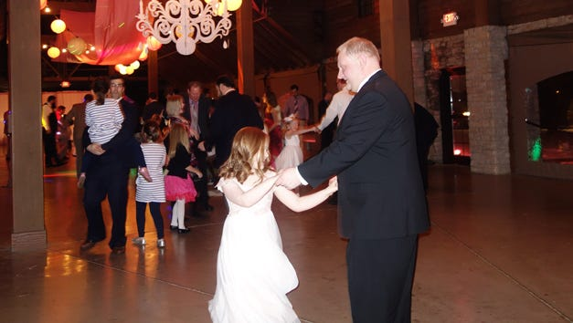 Cassidy and DeWayne Rickerson at the annual Her Knight daughter-father dinner dance Saturday at Keeneland.
