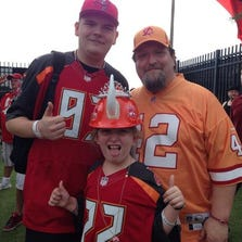 Bucs fans from different eras get in the mood for the team's training camp.