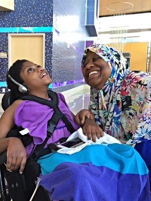 """""""You think, this is palliative care? This is respite? This is a party!"""" Michelle Dumay says of Ryan House, a respite and palliative care provider in Phoenix that cares for her daughter Fatima, 8."""