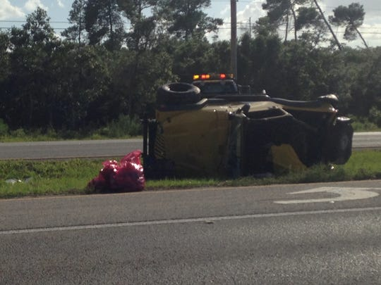 Rollover on Grimmsom parkway in Port St. John.