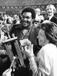 Billie Jean King, George Foreman
