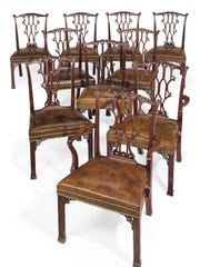 The Rockefeller dining room chairs.