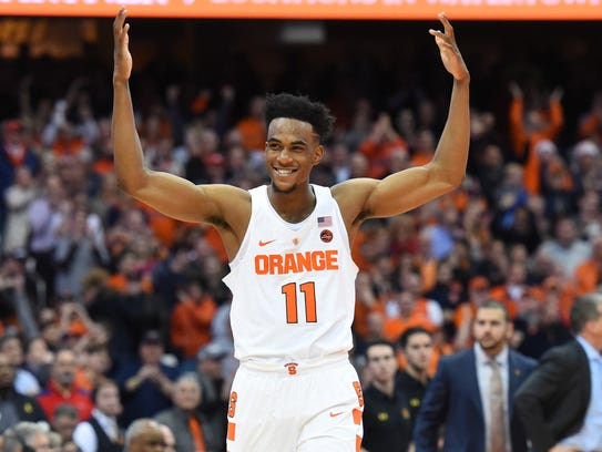 Freshman forward Oshae Brissett was named ACC Rookie of the Week. He had 16 points and 12 rebounds in Saturday's win at Miami.