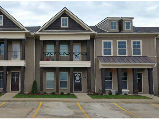 This photo shows what some town homes would look like