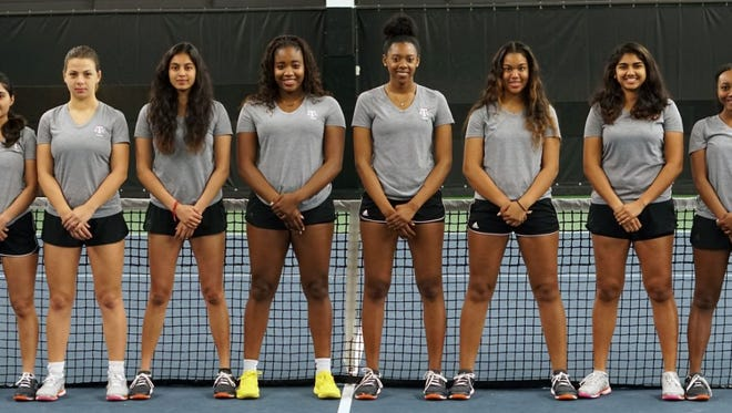 Tennessee State's women's tennis team played Arkansas six times on Sunday.
