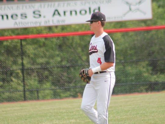 Senior Brett Benzinger takes his shortstop position