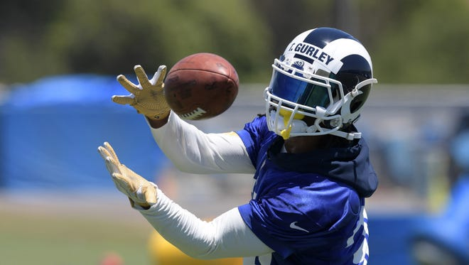 Los Angeles Rams running back Todd Gurley is the highest paid running back in the NFL.