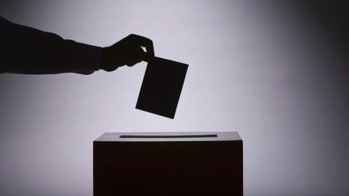 Vote and ballot box