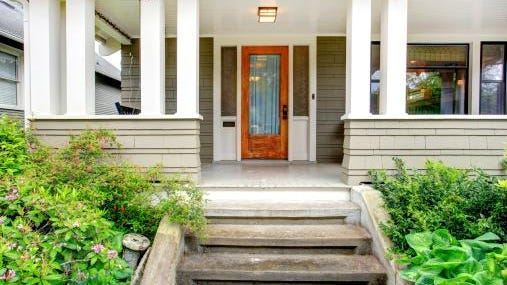 """""""If your front door is shabby, installing a new sealed front door package can impress buyers and add value,"""" says Eric Grill, REALTOR® with RE/MAX FINEST and real estate appraiser."""