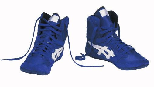 Pair of wrestling shoes