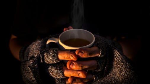 Stock Photo: Homeless man's hands