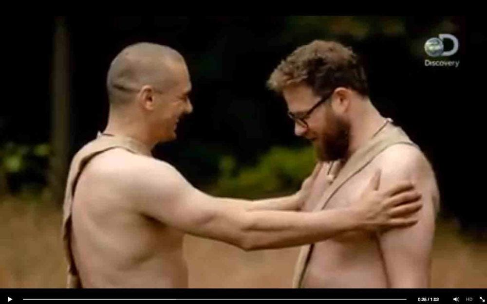 Naked and afraid seth rogen and james franco one news