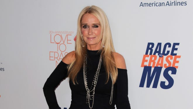 """Kim Richards arrives at the 20th annual Race to Erase MS event """"Love to Erase MS"""" at the Hyatt Regency Century Plaza in Los Angeles on May 3, 2013."""