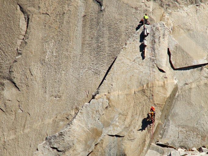 Scott Phillips on El Capitan, Yosemite National Park