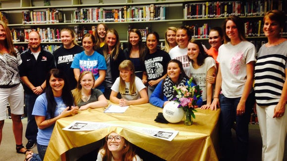 North Buncombe senior Taylor Van Reenen has signed to play volleyball for Brevard College.