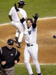 Aaron Boone after hitting a homer to beat the Red Sox
