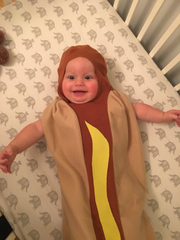 Luke Honerlaw's costume began as a hotdog. Then his