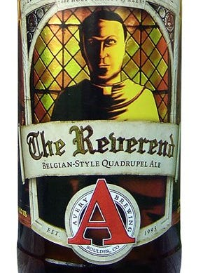 The Reverend from Avery Brewing Co., in Boulder, Colo., is 10% ABV.