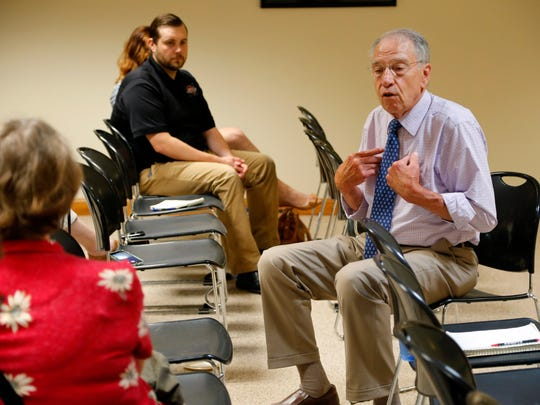 Sen. Chuck Grassley (R-Iowa) holds a meeting with voters